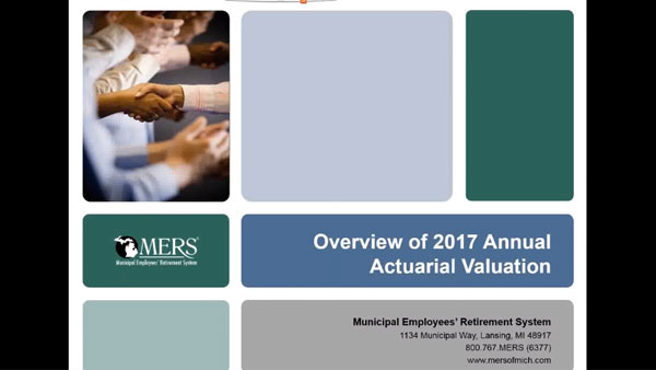 Overview fo 2017 Annual Actuarial Valuation