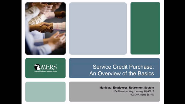 Service Credit Purchase: an Overview of the Basics